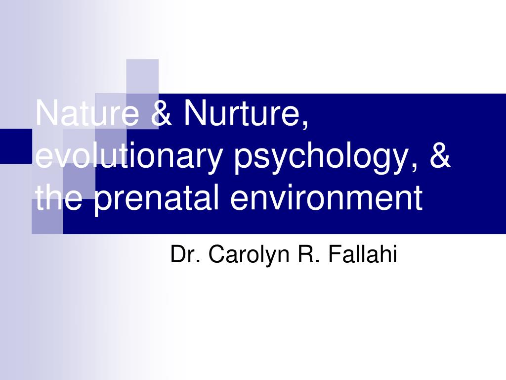 nature nurture evolutionary psychology the prenatal environment l.
