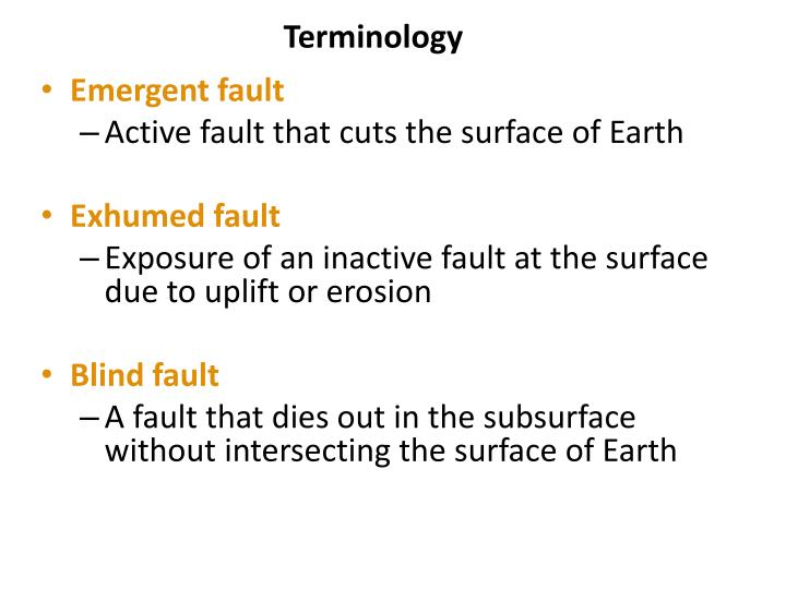 what is inactive fault