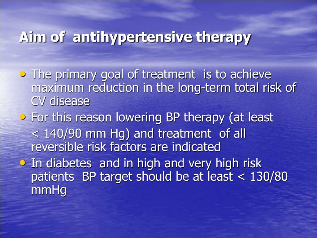 Aim of  antihypertensive therapy