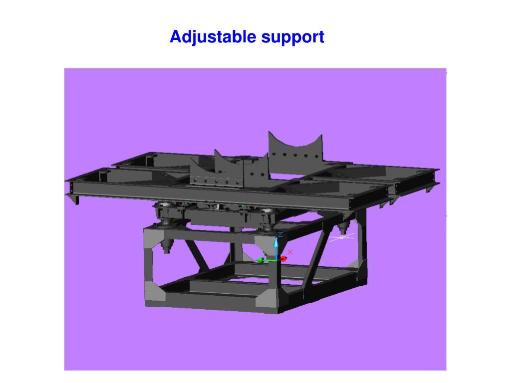 Adjustable support