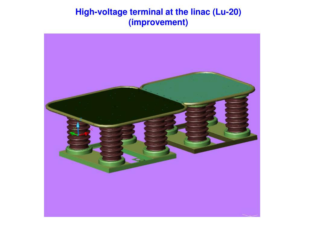 High-voltage terminal at the linac (Lu-20)