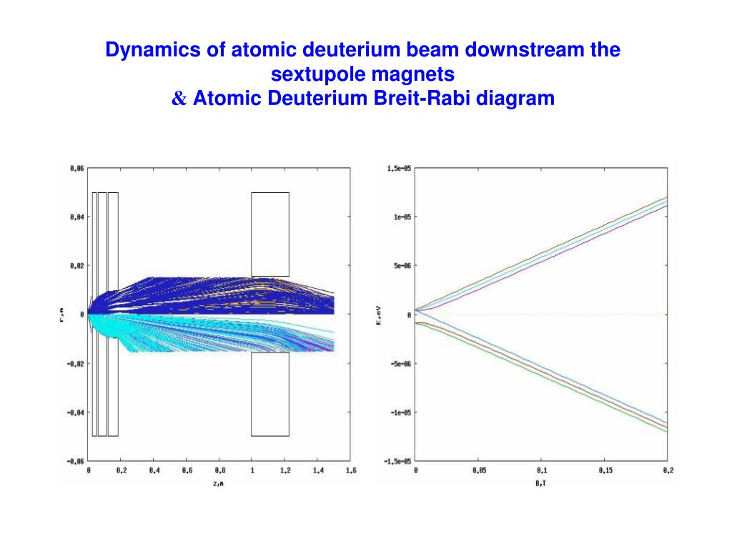 Dynamics of atomic deuterium beam downstream the sextupole magnets