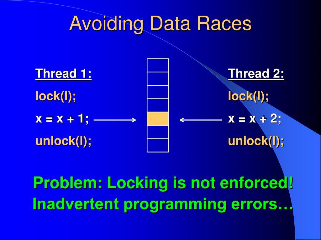 Avoiding Data Races