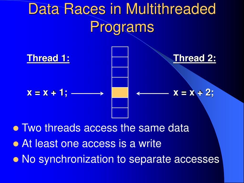 Data Races in Multithreaded Programs