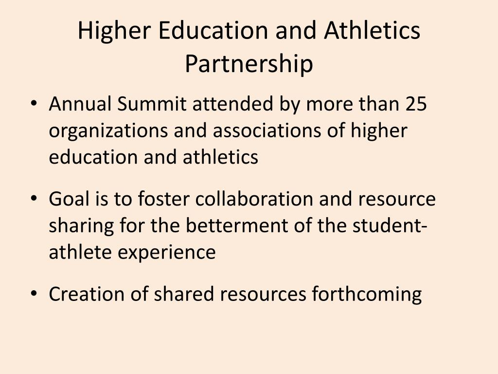 Higher Education and Athletics Partnership