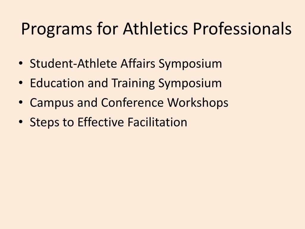 Programs for Athletics Professionals