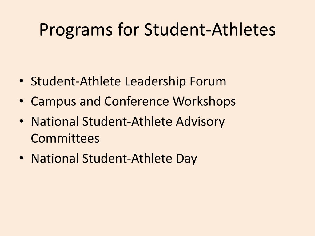 Programs for Student-Athletes