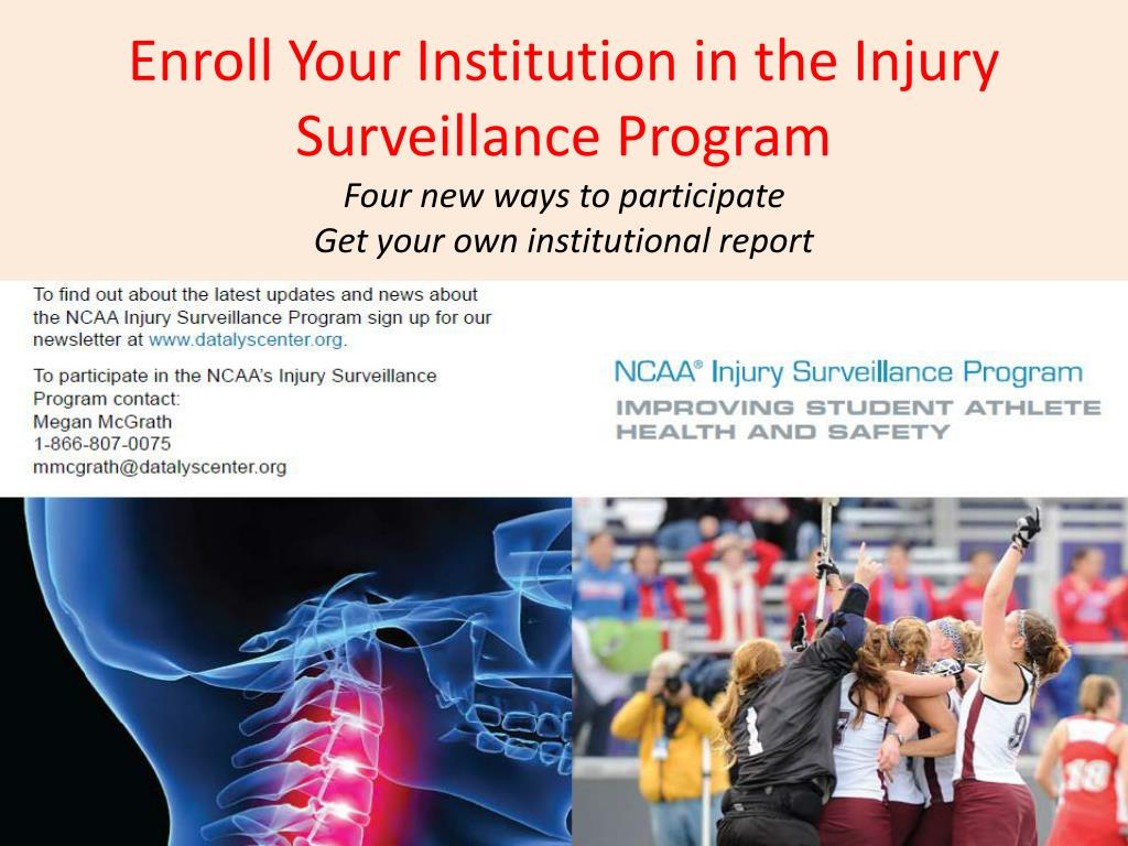 Enroll Your Institution in the Injury Surveillance Program