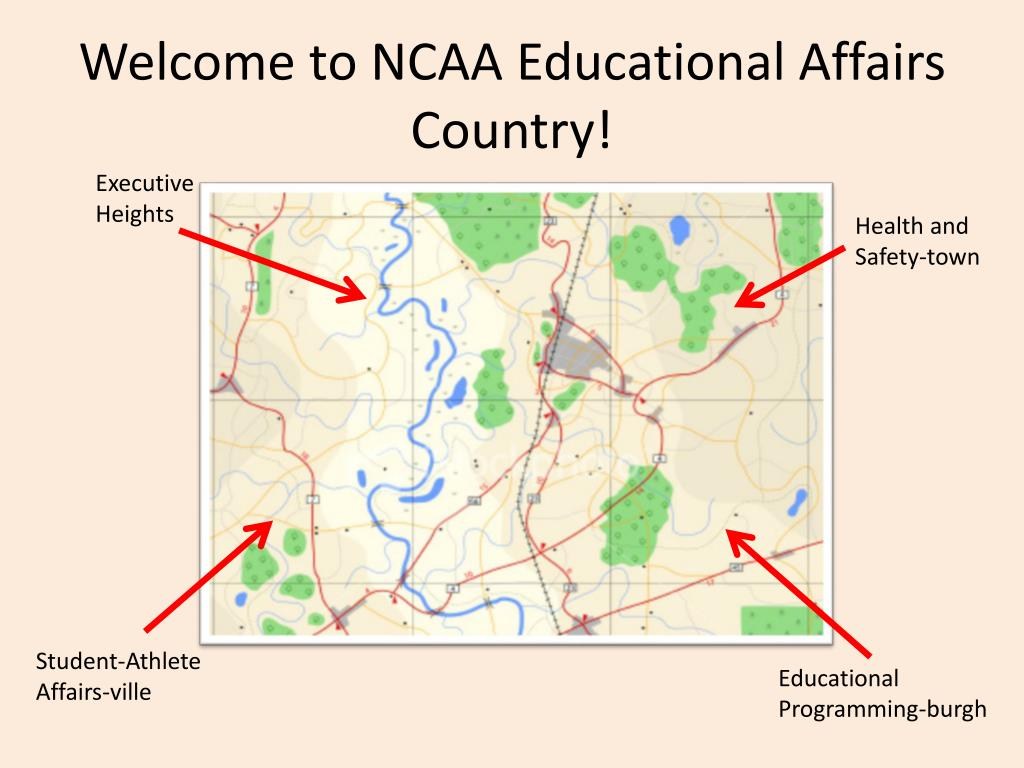 Welcome to NCAA Educational Affairs Country!