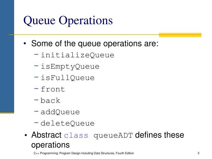 Queue operations
