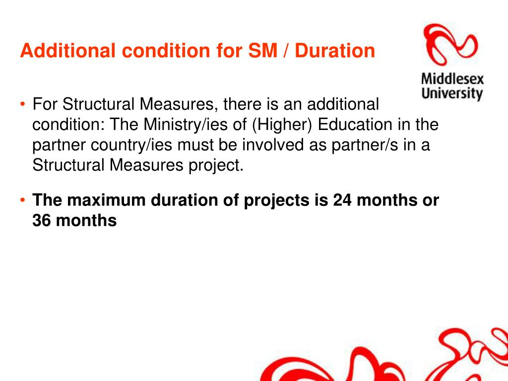 Additional condition for SM / Duration