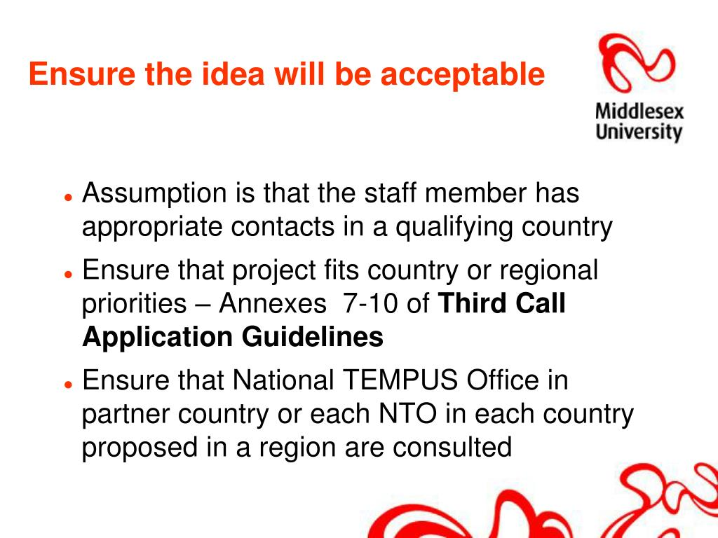 Ensure the idea will be acceptable