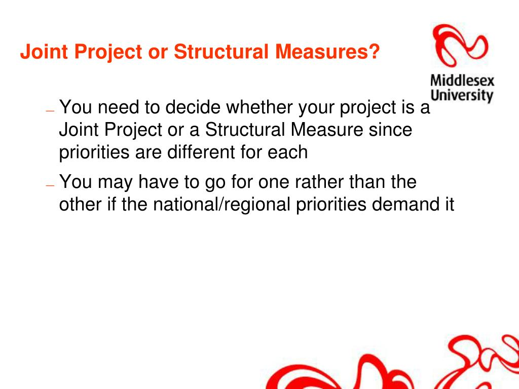 Joint Project or Structural Measures?