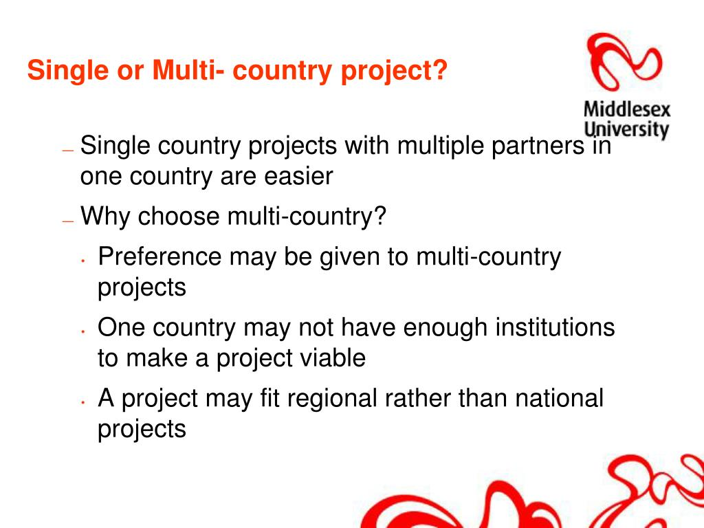 Single or Multi- country project?
