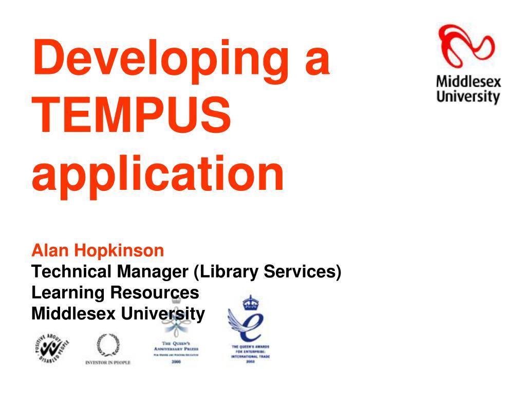 Developing a TEMPUS application