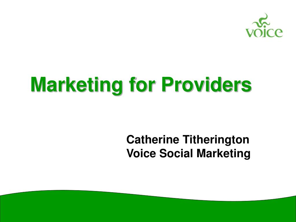marketing for providers l.