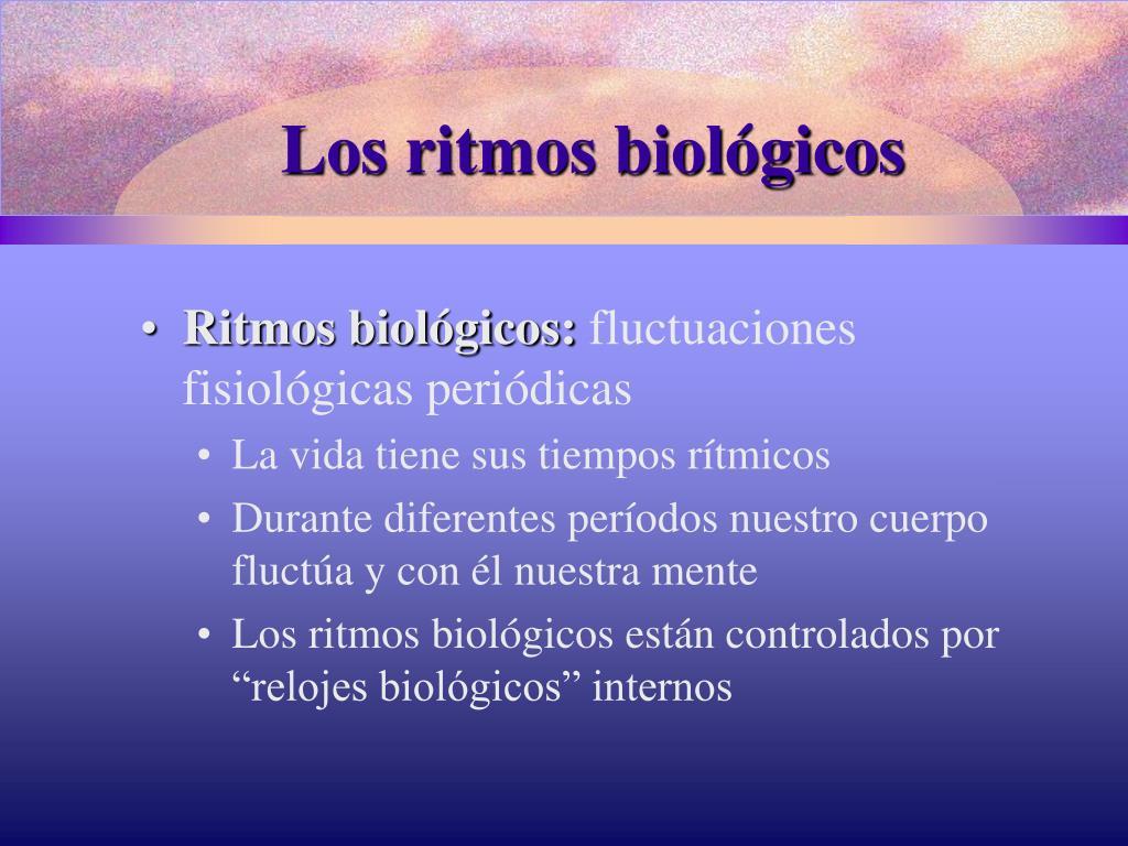 Los ritmos biológicos