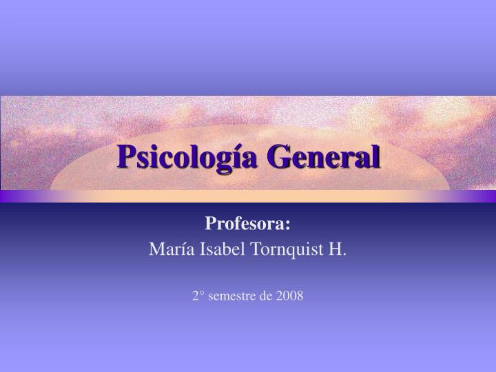 Psicolog a general