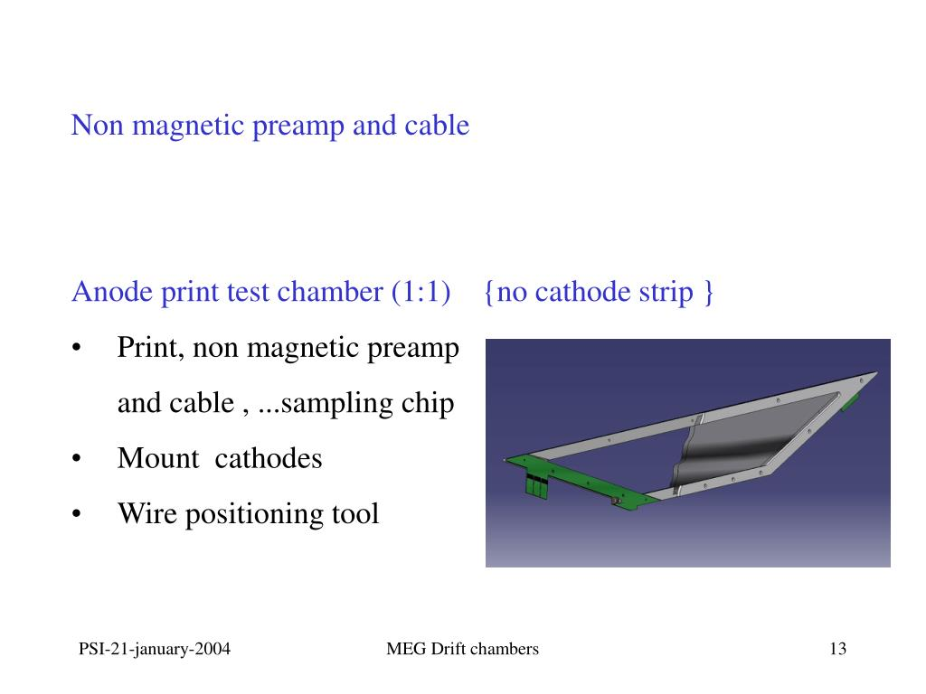 Non magnetic preamp and cable