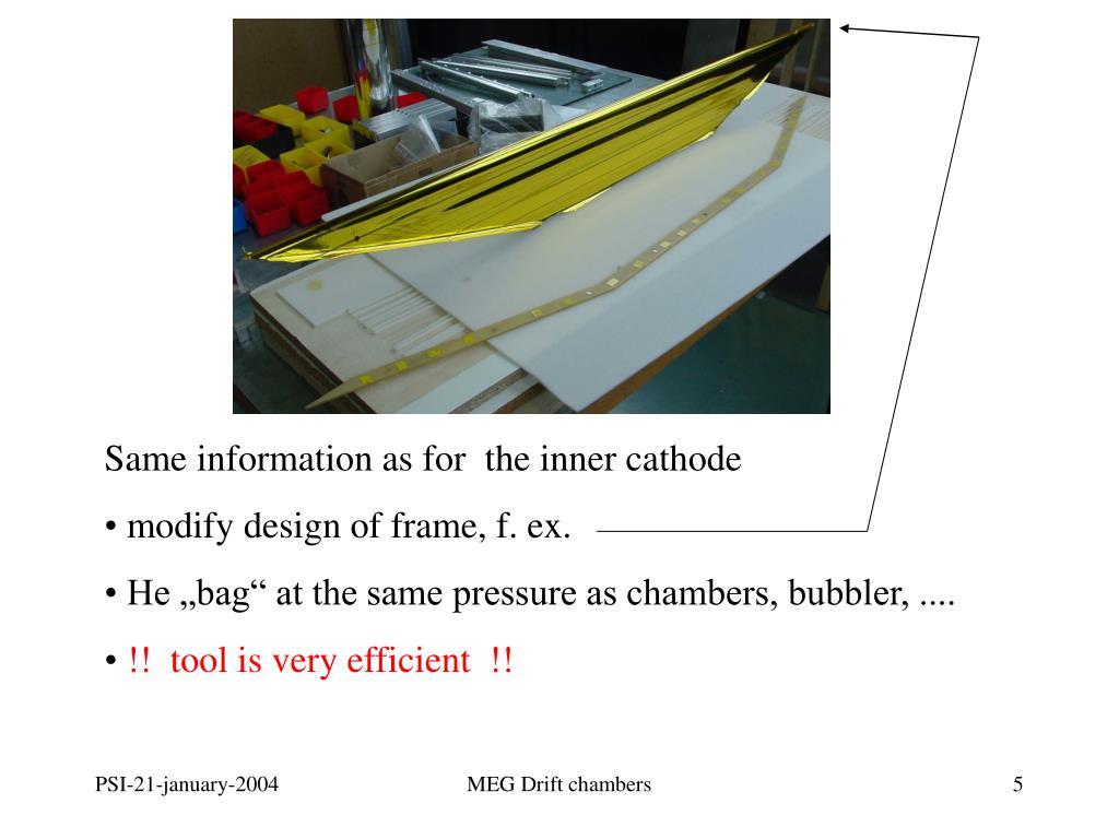 Same information as for  the inner cathode