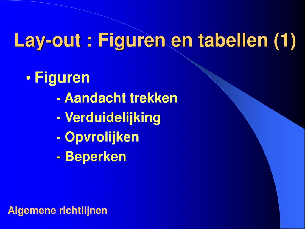 Lay-out : Figuren en tabellen (1)