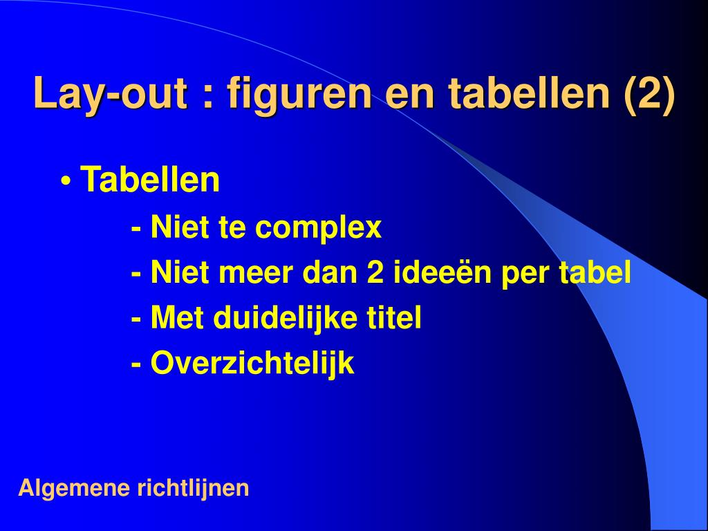 Lay-out : figuren en tabellen (2)