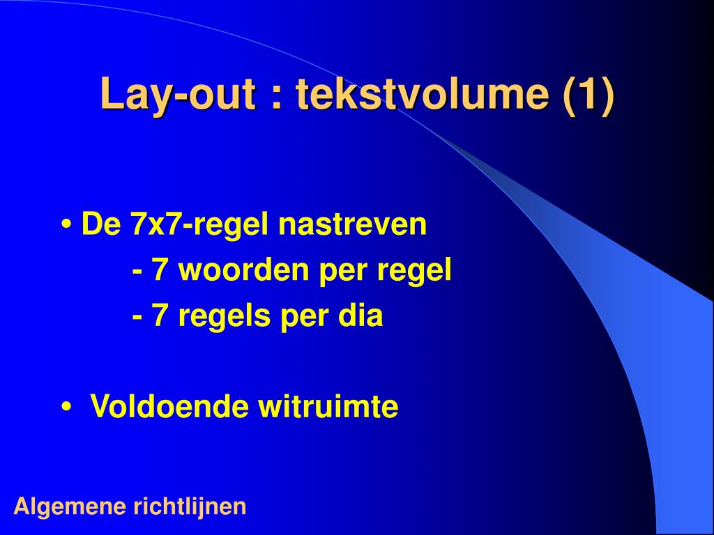 Lay-out : tekstvolume (1)