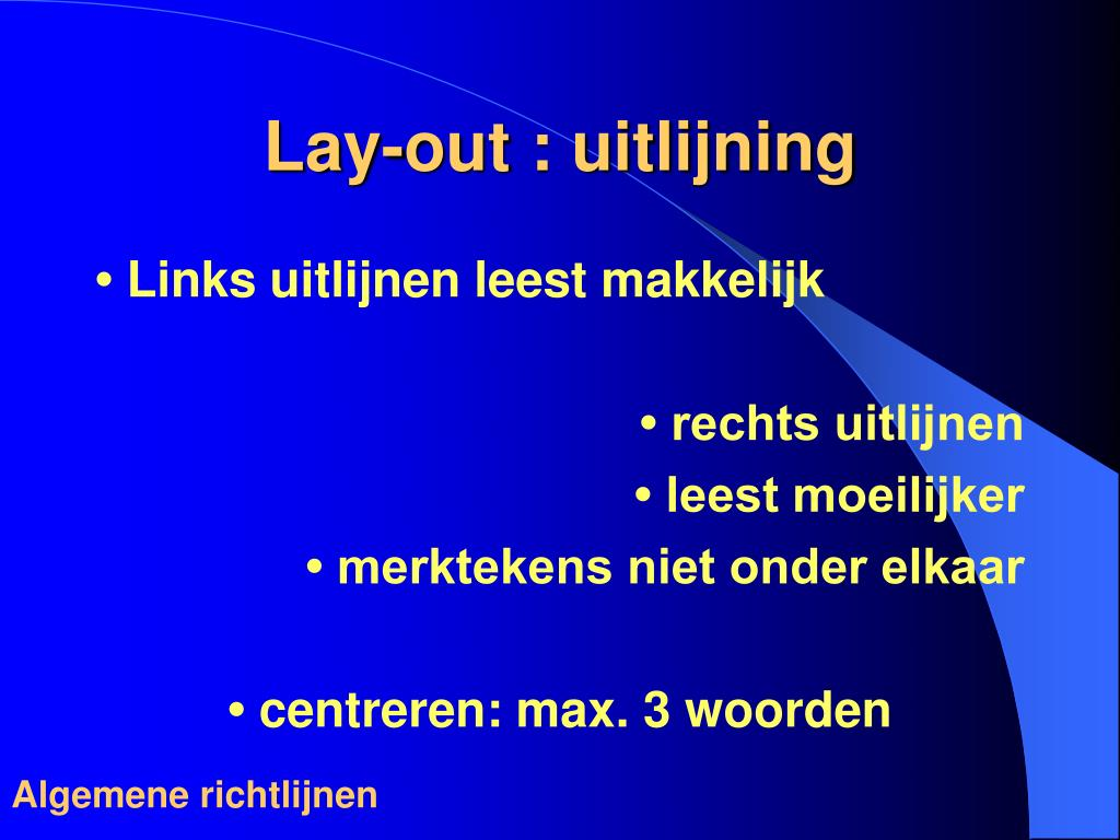 Lay-out : uitlijning