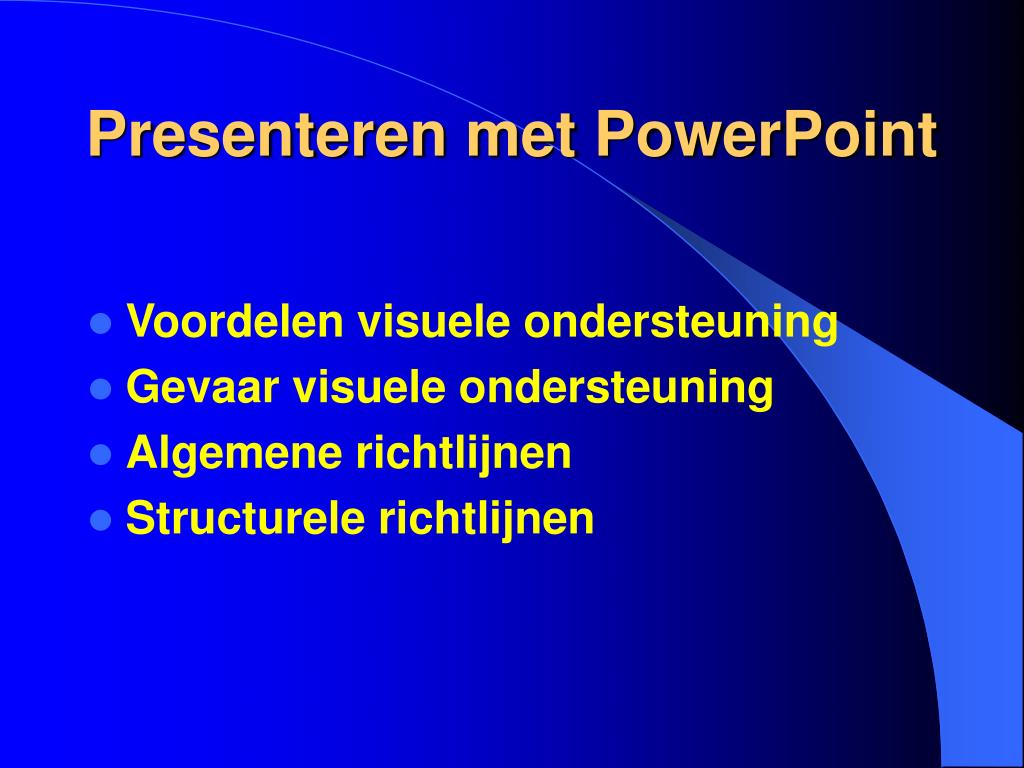 Presenteren met PowerPoint
