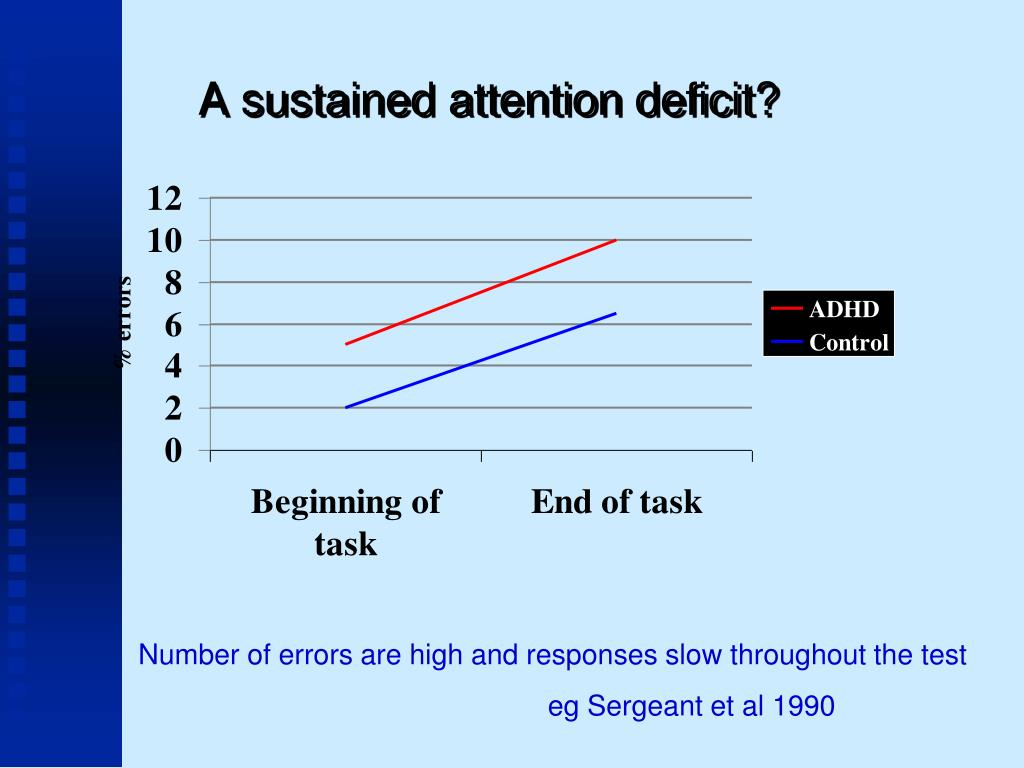 A sustained attention deficit?