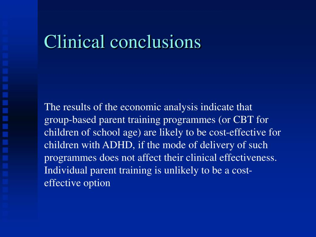 Clinical conclusions