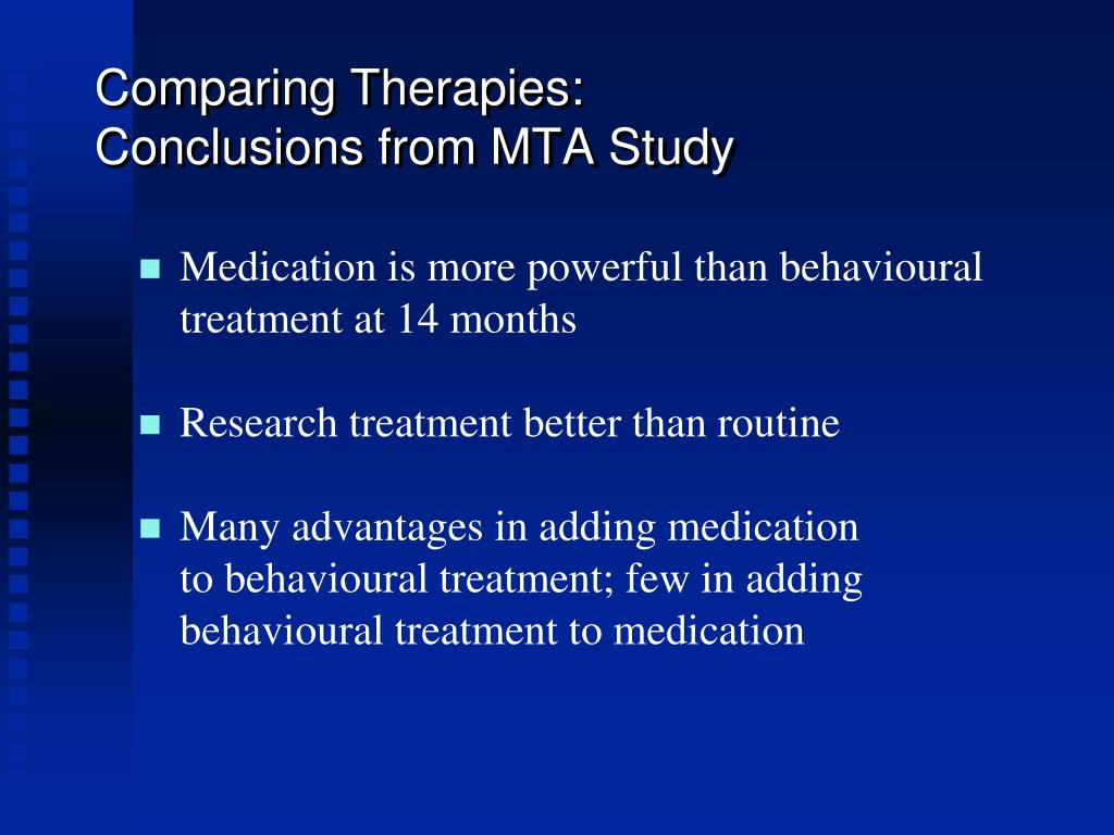 Comparing Therapies: