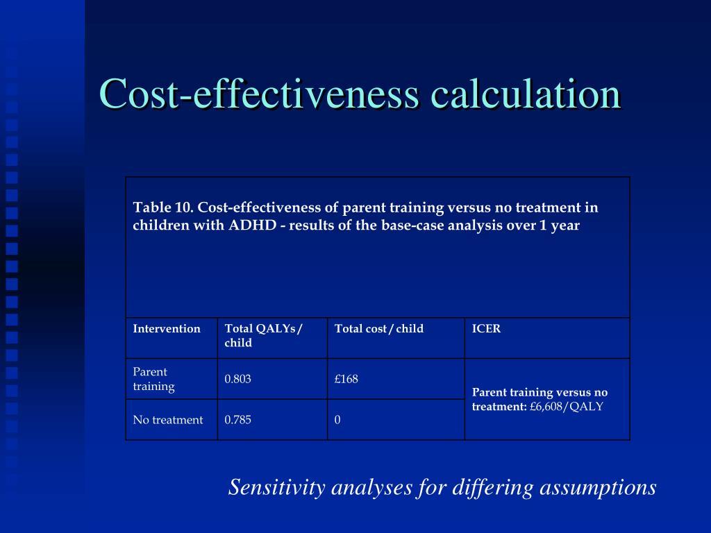 Cost-effectiveness calculation