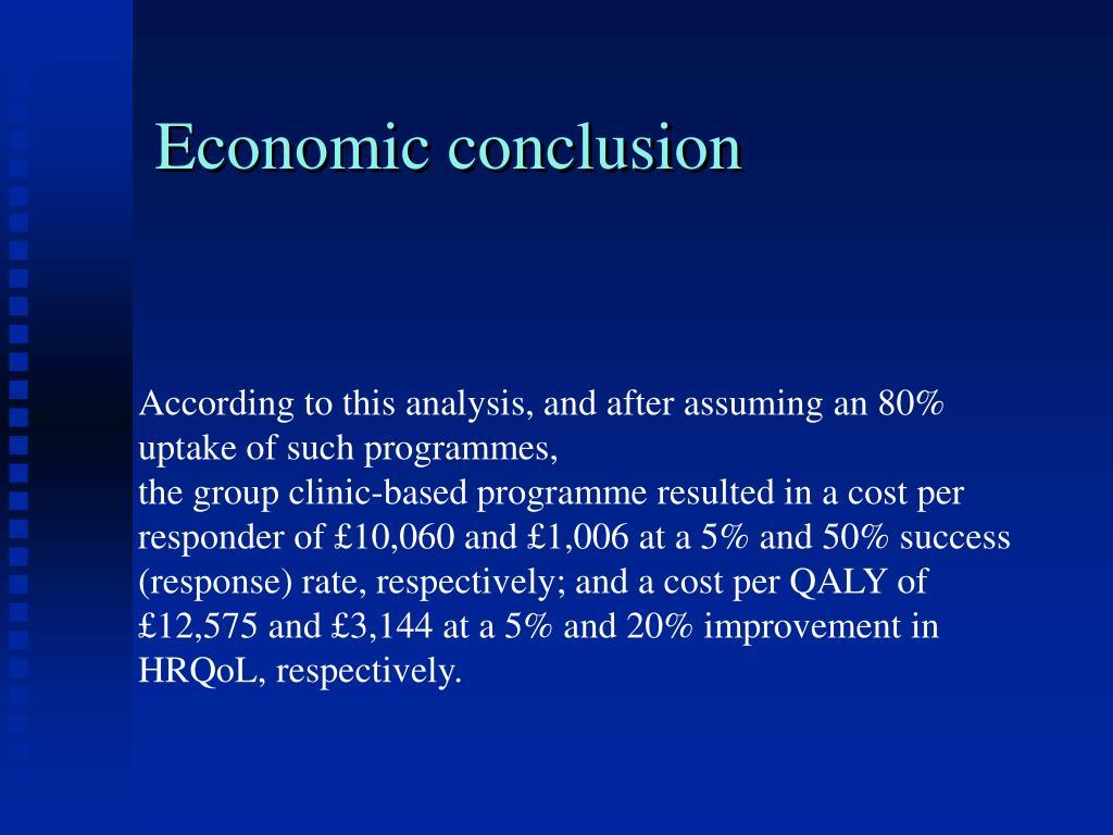 Economic conclusion
