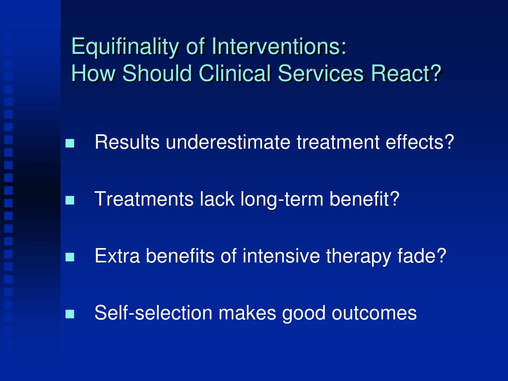 Equifinality of Interventions: