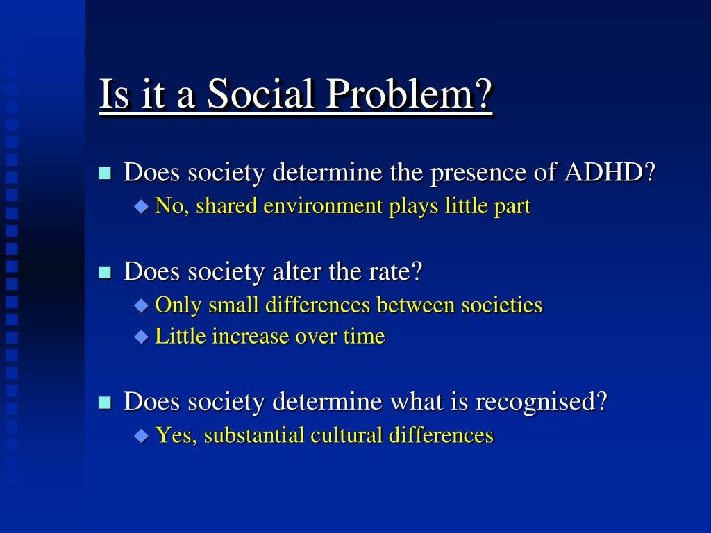 Is it a Social Problem?