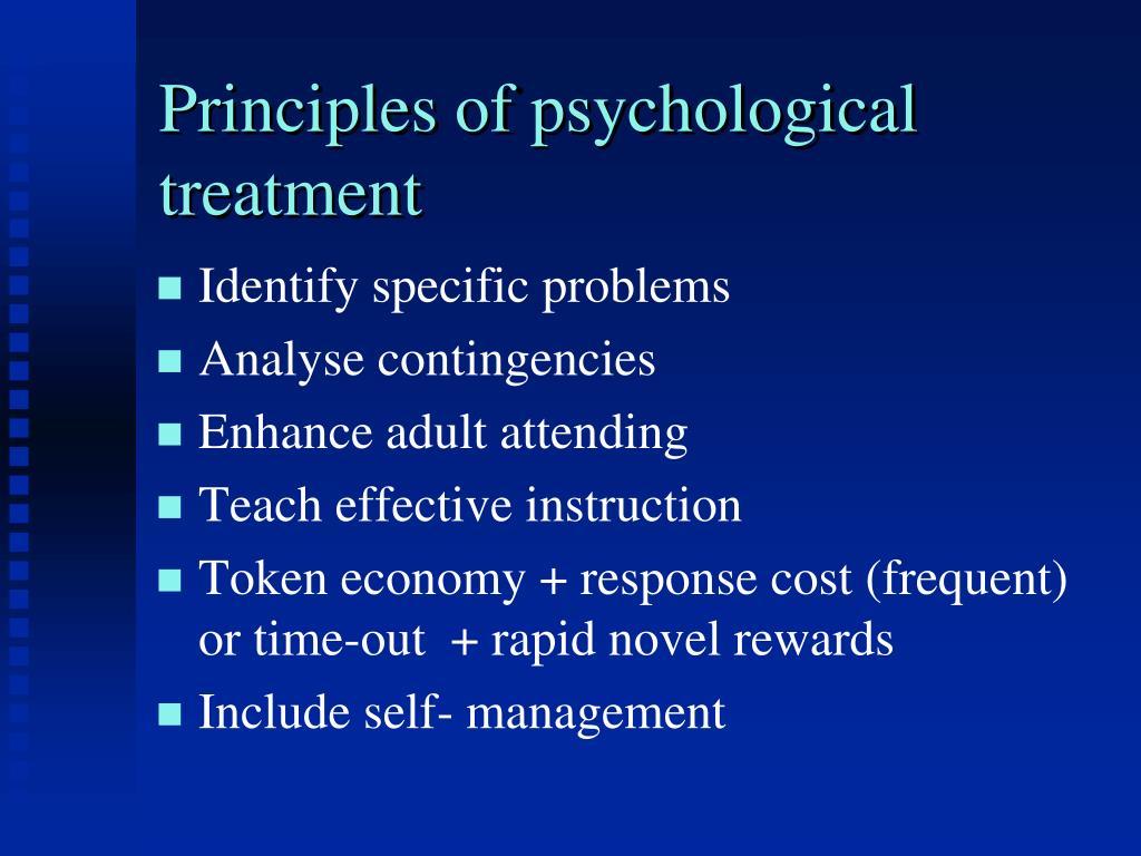 Principles of psychological treatment