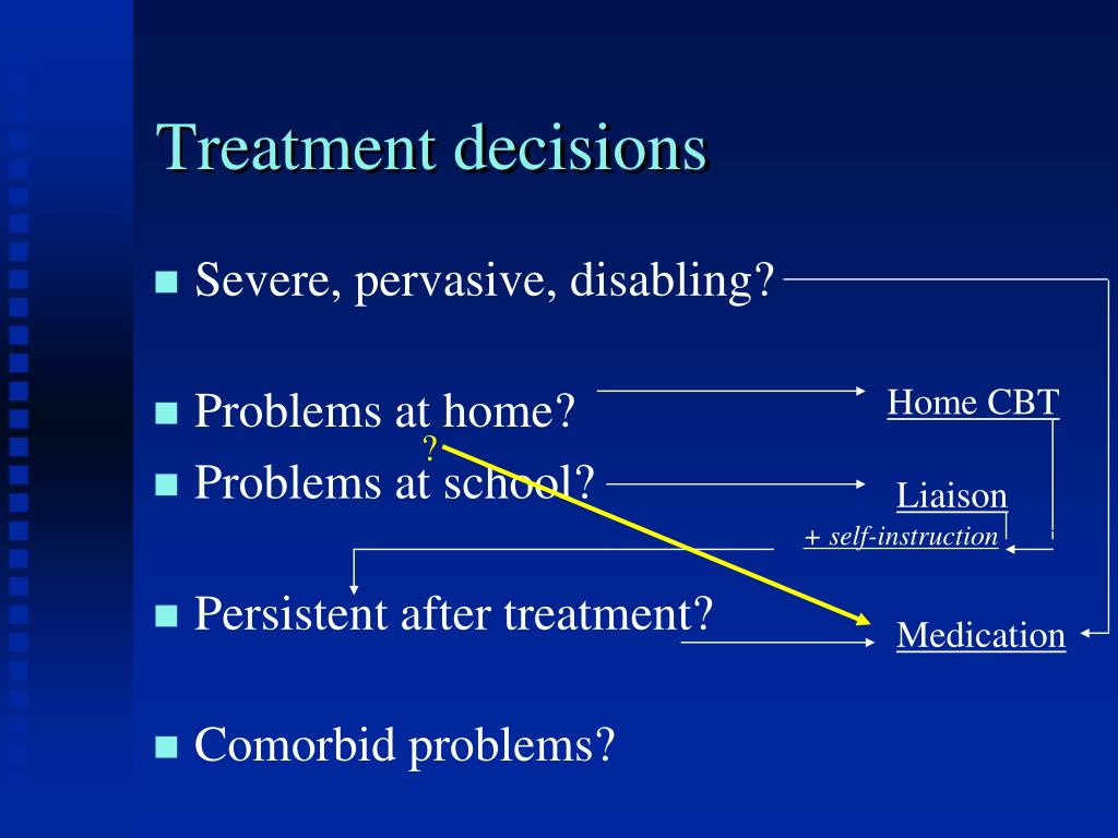 Treatment decisions