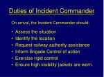 duties of incident commander