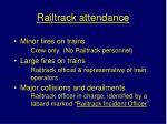 railtrack attendance