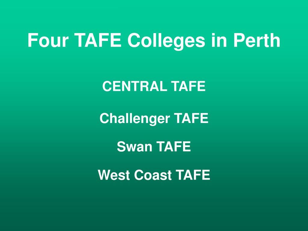 Four TAFE Colleges in Perth