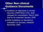 other non clinical guidance documents