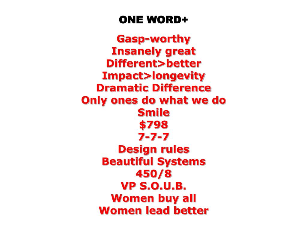 ONE WORD+