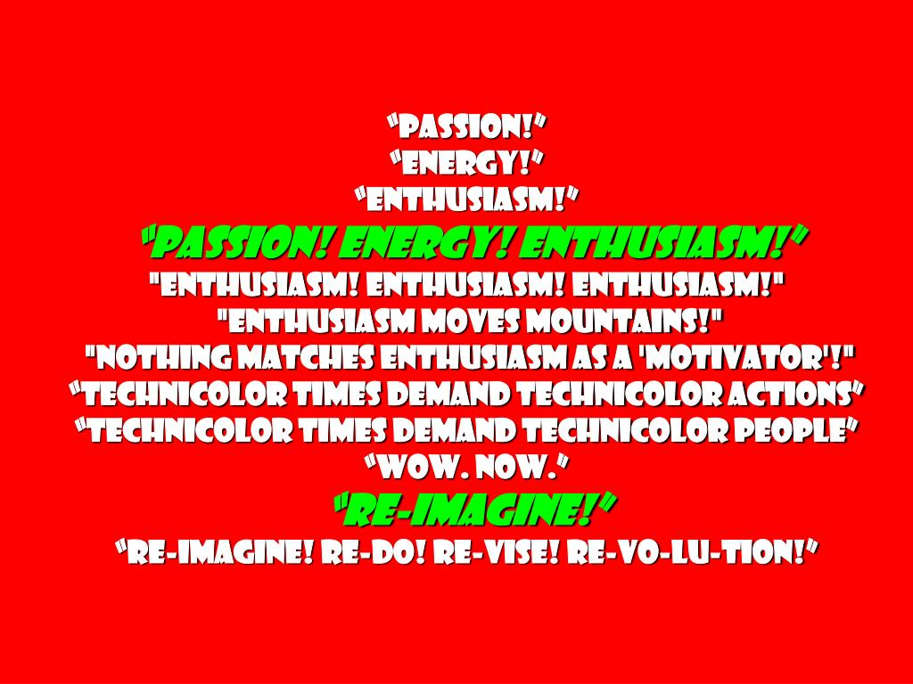 """""""Passion!"""""""