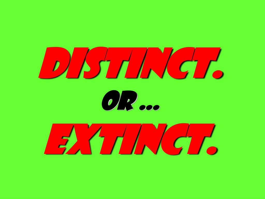 distinct.