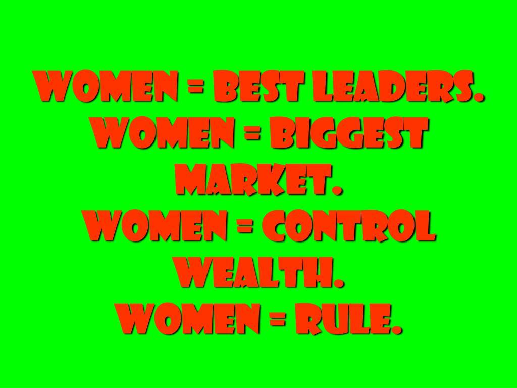 women = best leaders.
