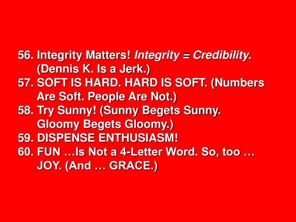 56. Integrity Matters!