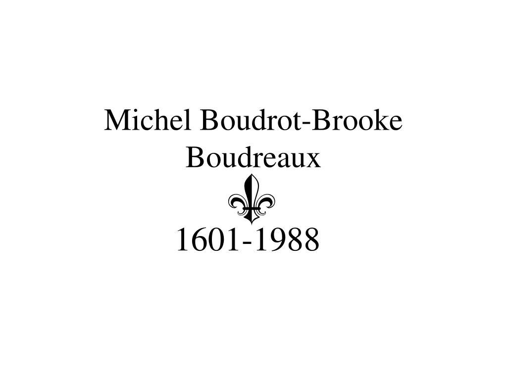 michel boudrot brooke boudreaux l.