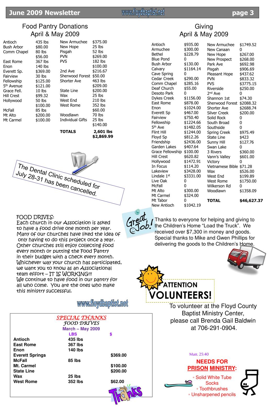 June 2009 Newsletter                                                                  page 3