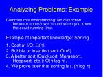analyzing problems example